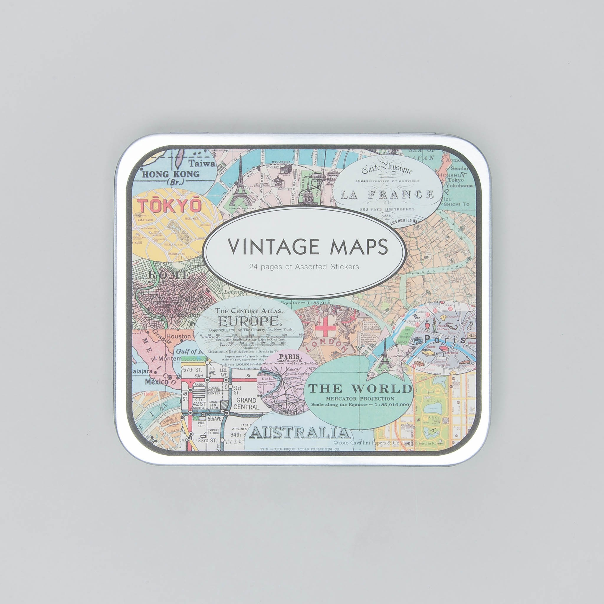 "Cavallini Papers Stickers ""vintage maps"""