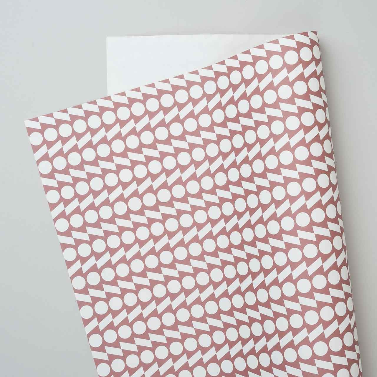 "Esme Winter Geschenkpapier ""Rhythm"" in terracotta"