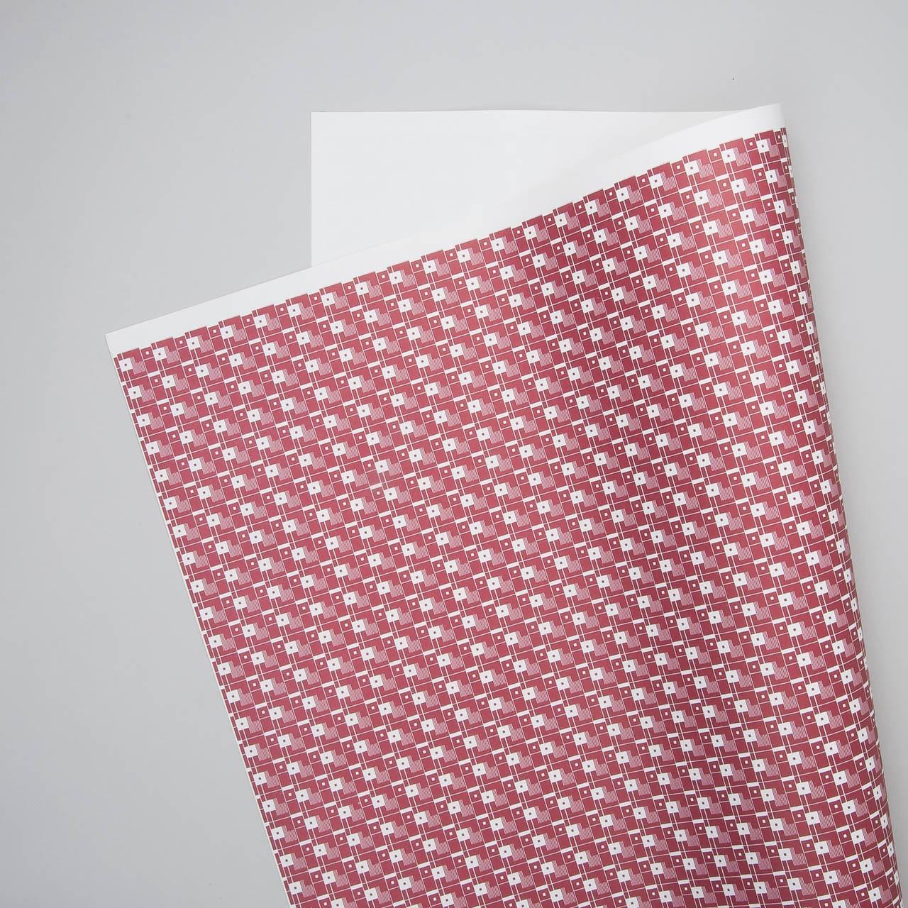 """Esme Winter Geschenkpapier """"Squares"""" in rot"""