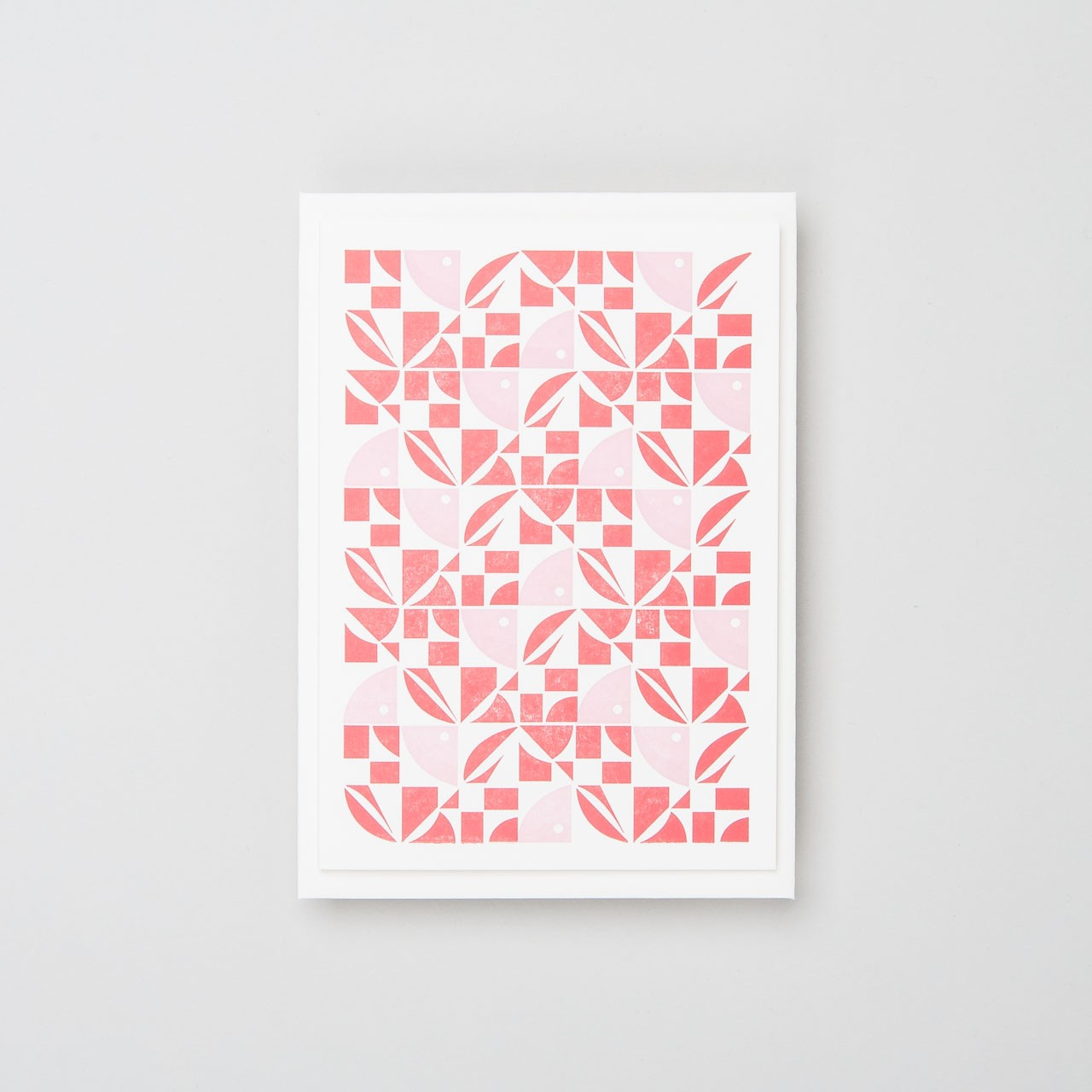 "Letterpress Klappkarte ""Bloom"" rot rosa"