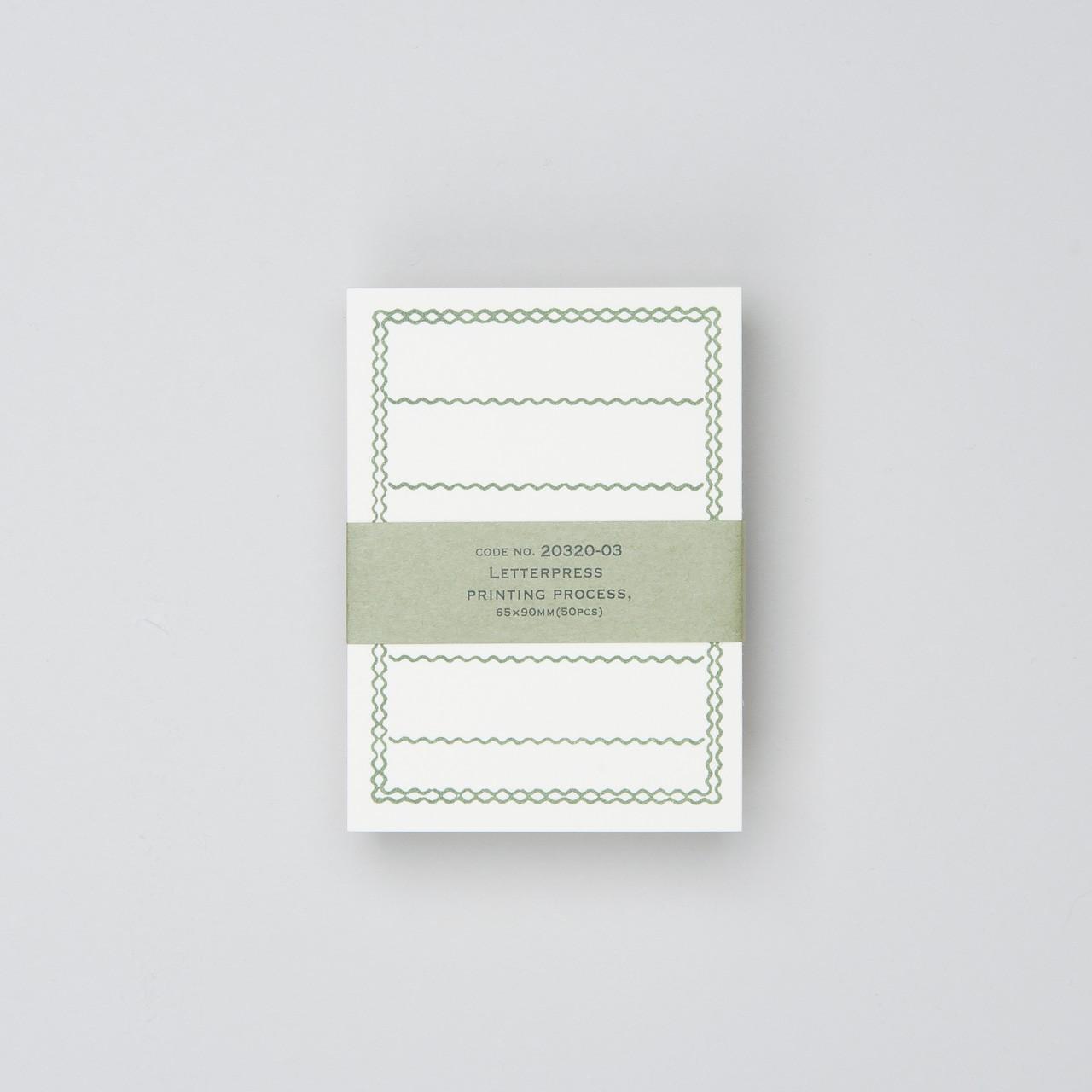 Notizkarten 65 x 90 mm (50 St.) mit grünem Rahmen