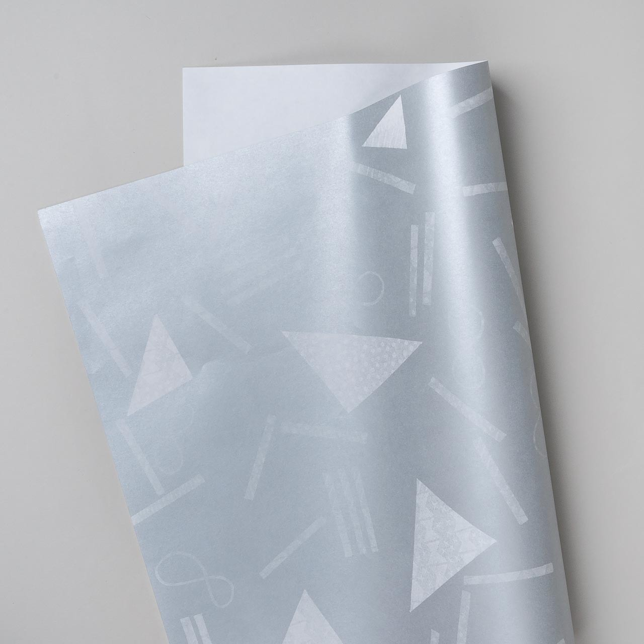 "Riso Geschenkpapier ""Geometry"" silber"