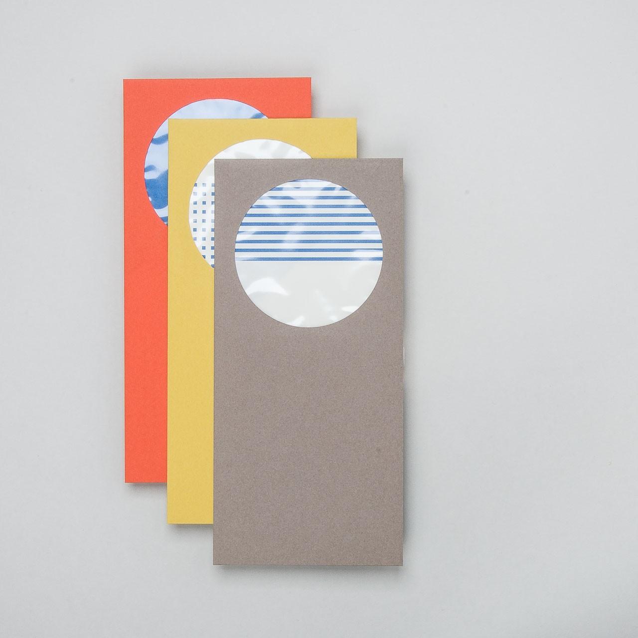 japanisches Umschlagset rundes Fenster