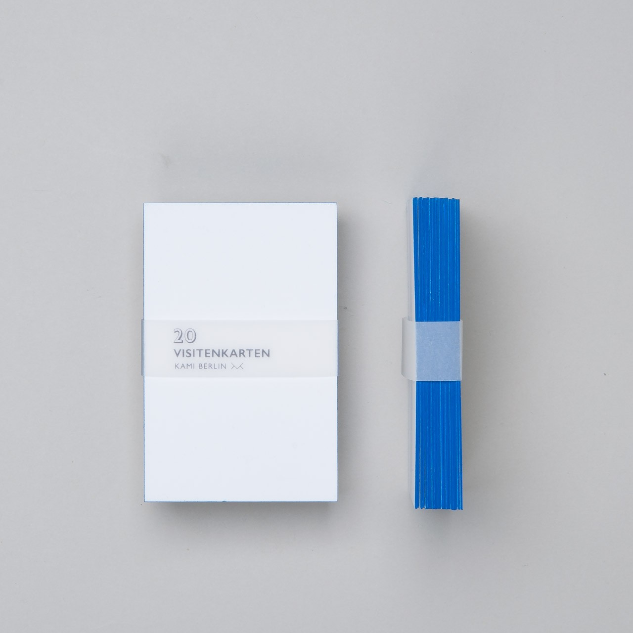 Kami Visitenkarten Mit Blauem Farbschnitt 20 St