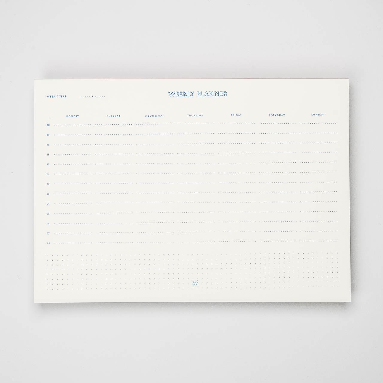 """KAMI Deskpad und """"Weekly Planner"""" A4"""