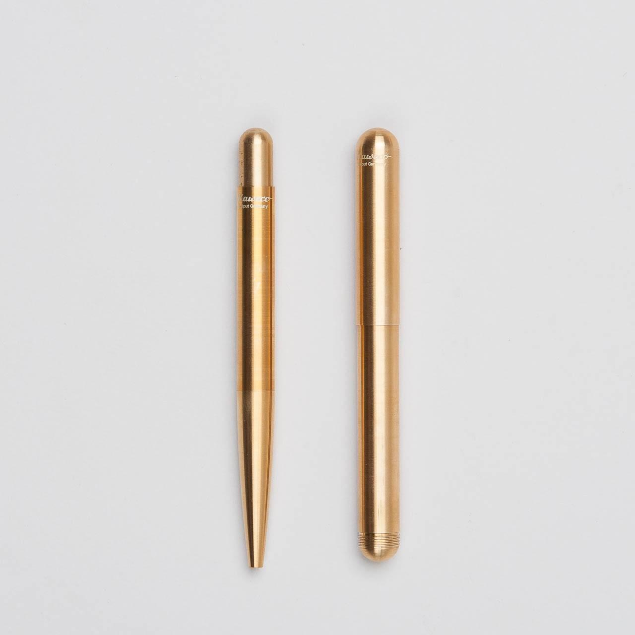 KaWeCo LILIPUT Füllfederhalter und Kugelschreiber in messing