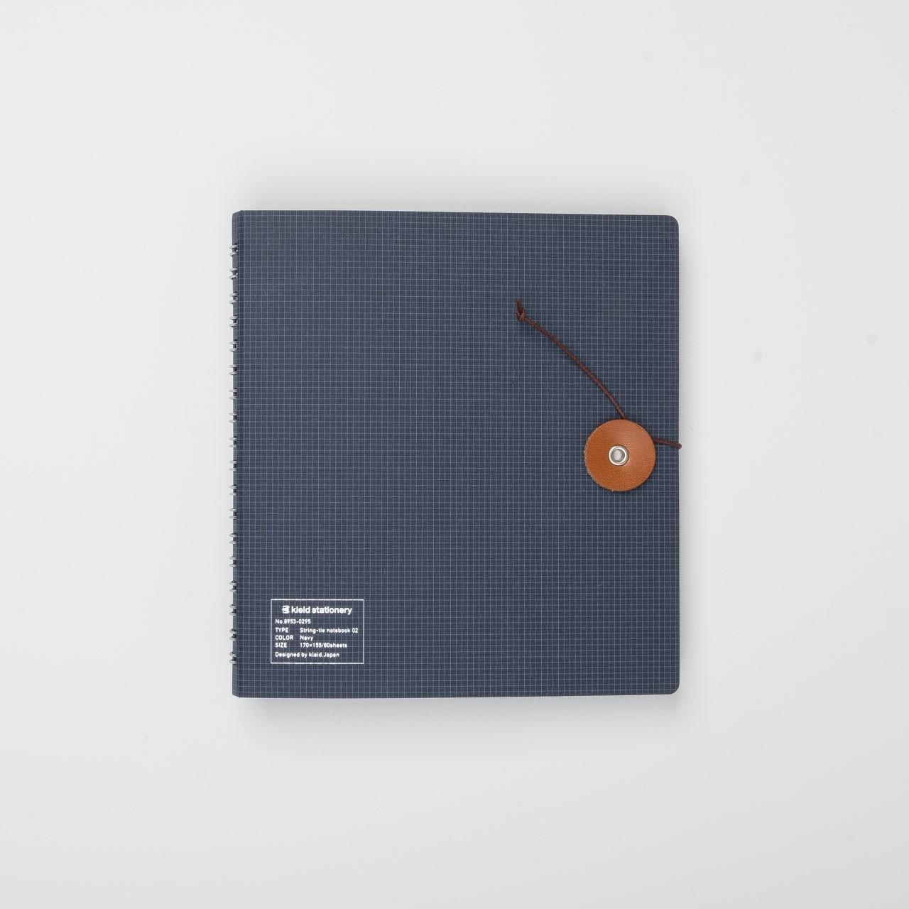 Kleid Ringbuch mit Kordel marineblau