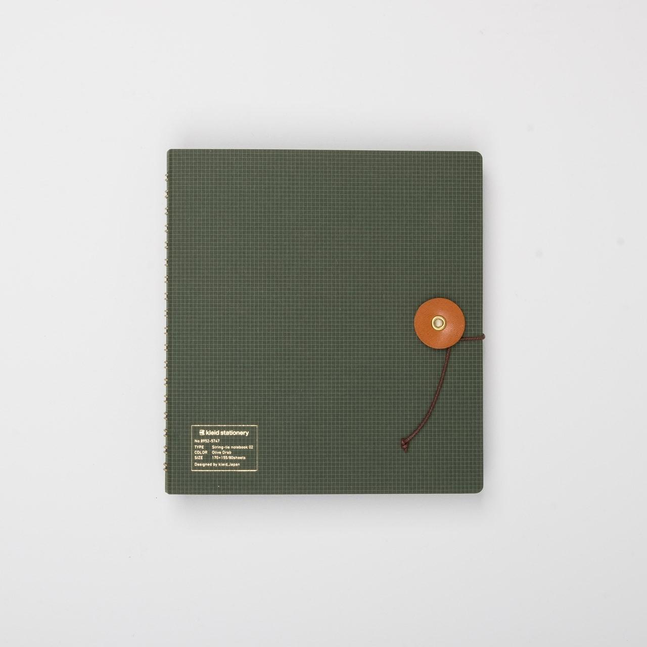 Kleid Ringbuch mit Kordel olivgrün