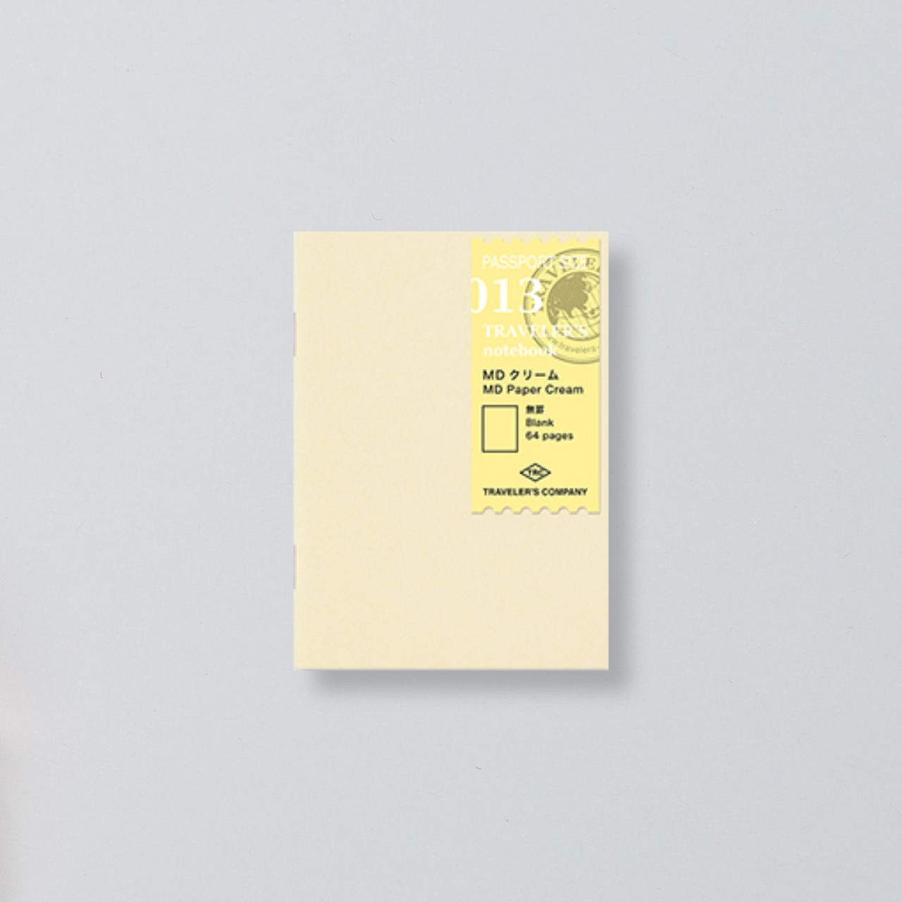 """Midori"" Traveler's Notebook Passport Size Refill ""013"" MD creme"
