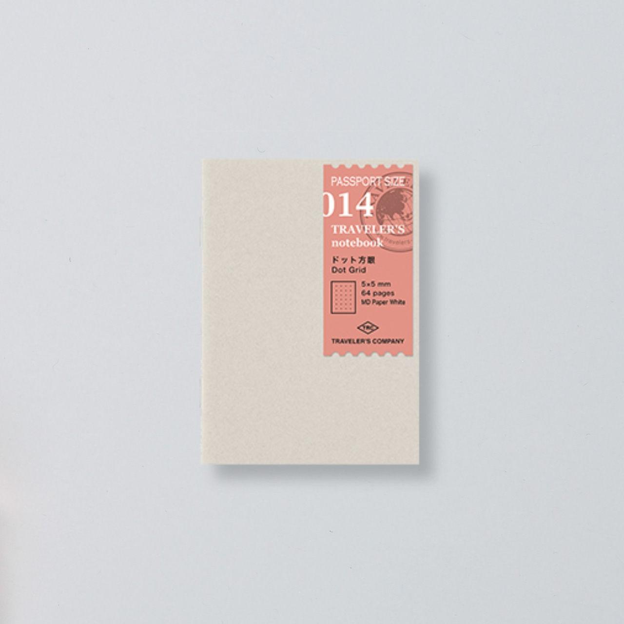 """""""Midori"""" Traveler's Notebook Passport Size Refill """"014"""" punktkariert"""