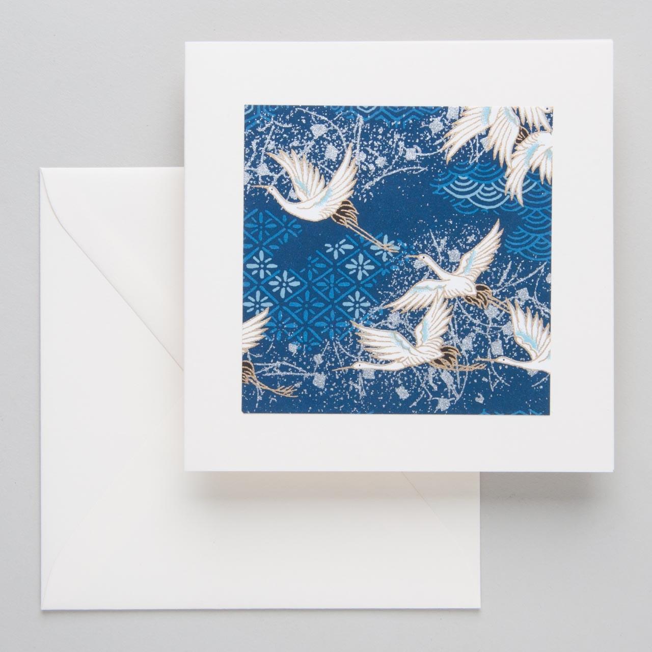 "Carta Pura Rivoli-Doppelkarte ""Kraniche"""