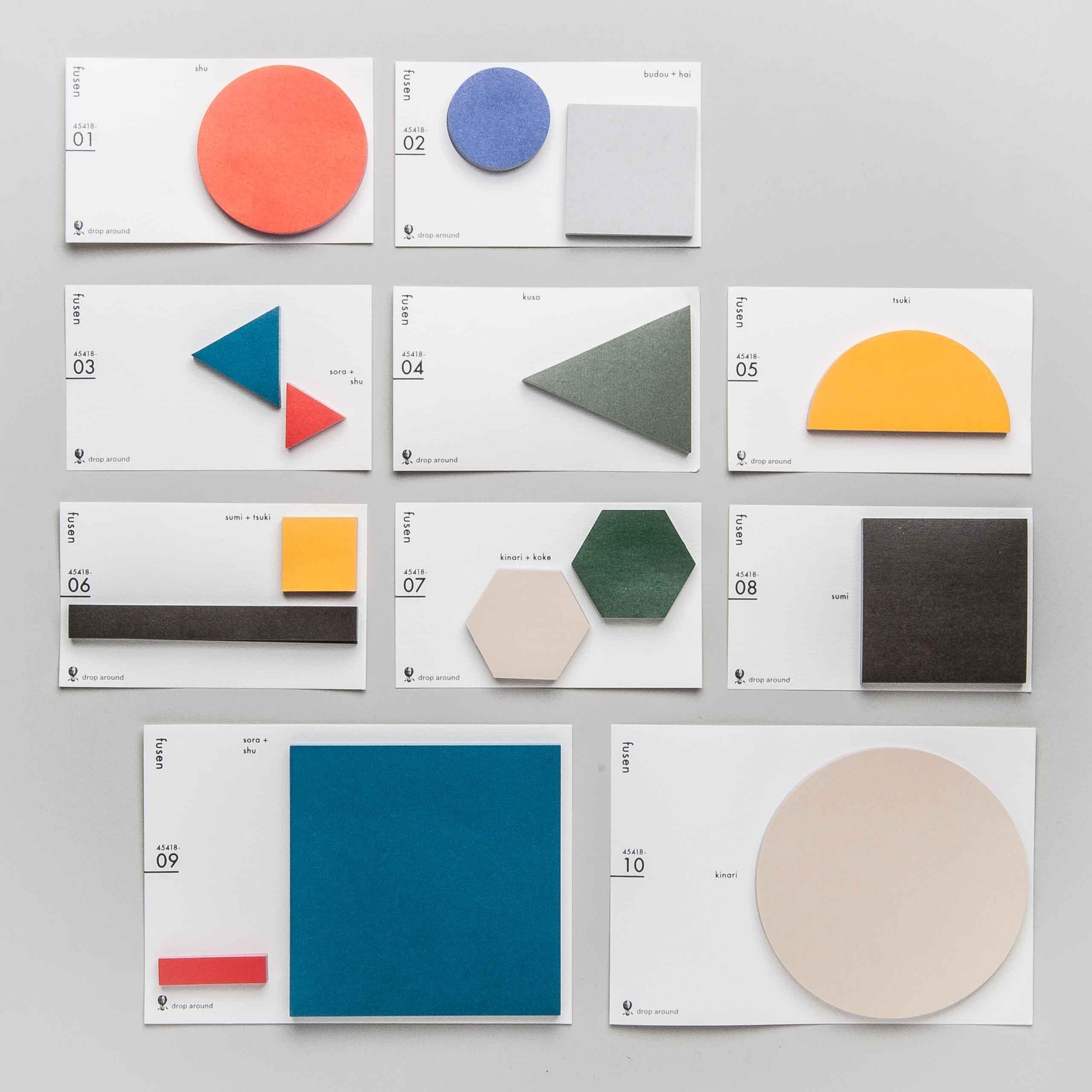 Geometry Stickies in vielen Farben und Formen