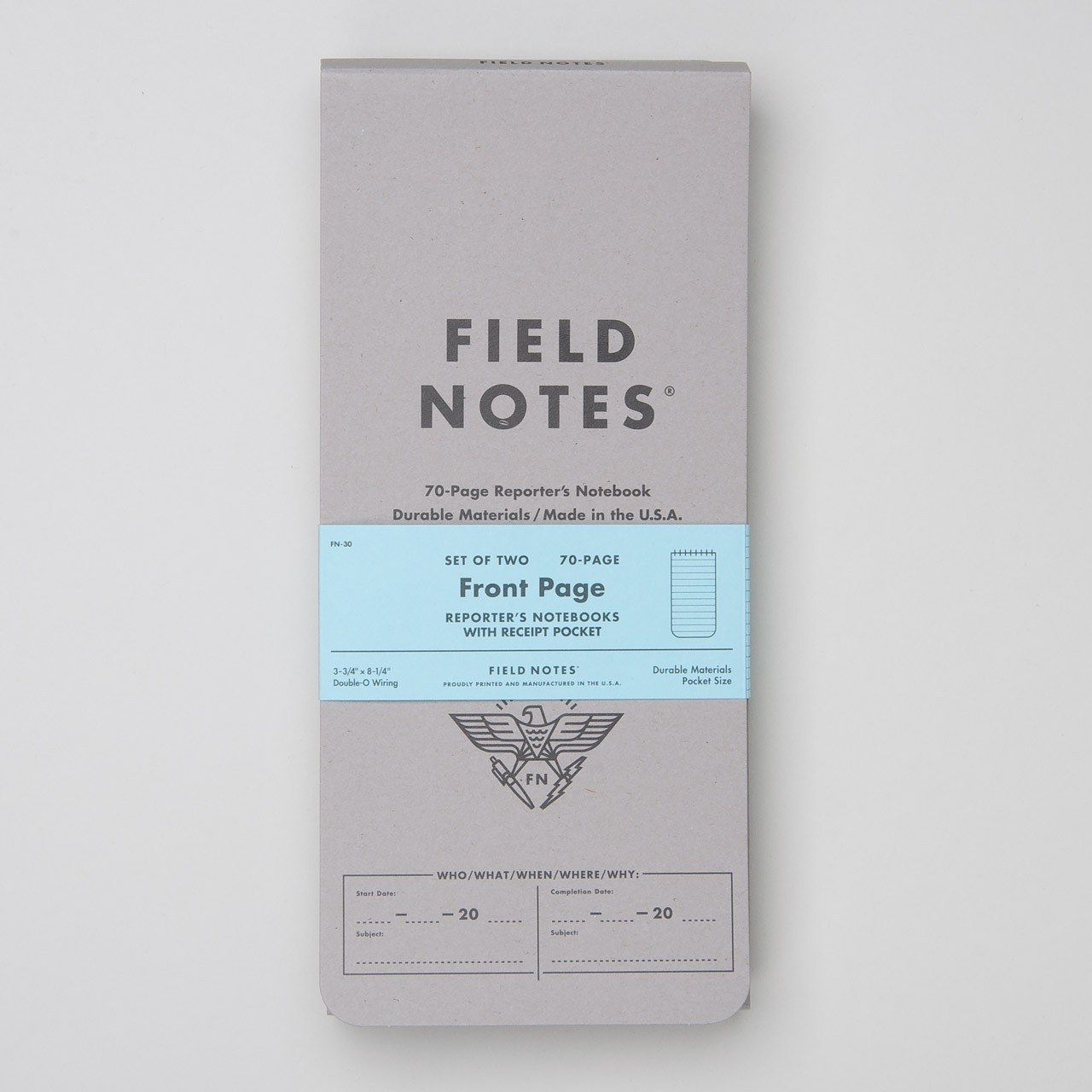 """Field Notes Reporterblock 2er Pack """"Front Page"""""""