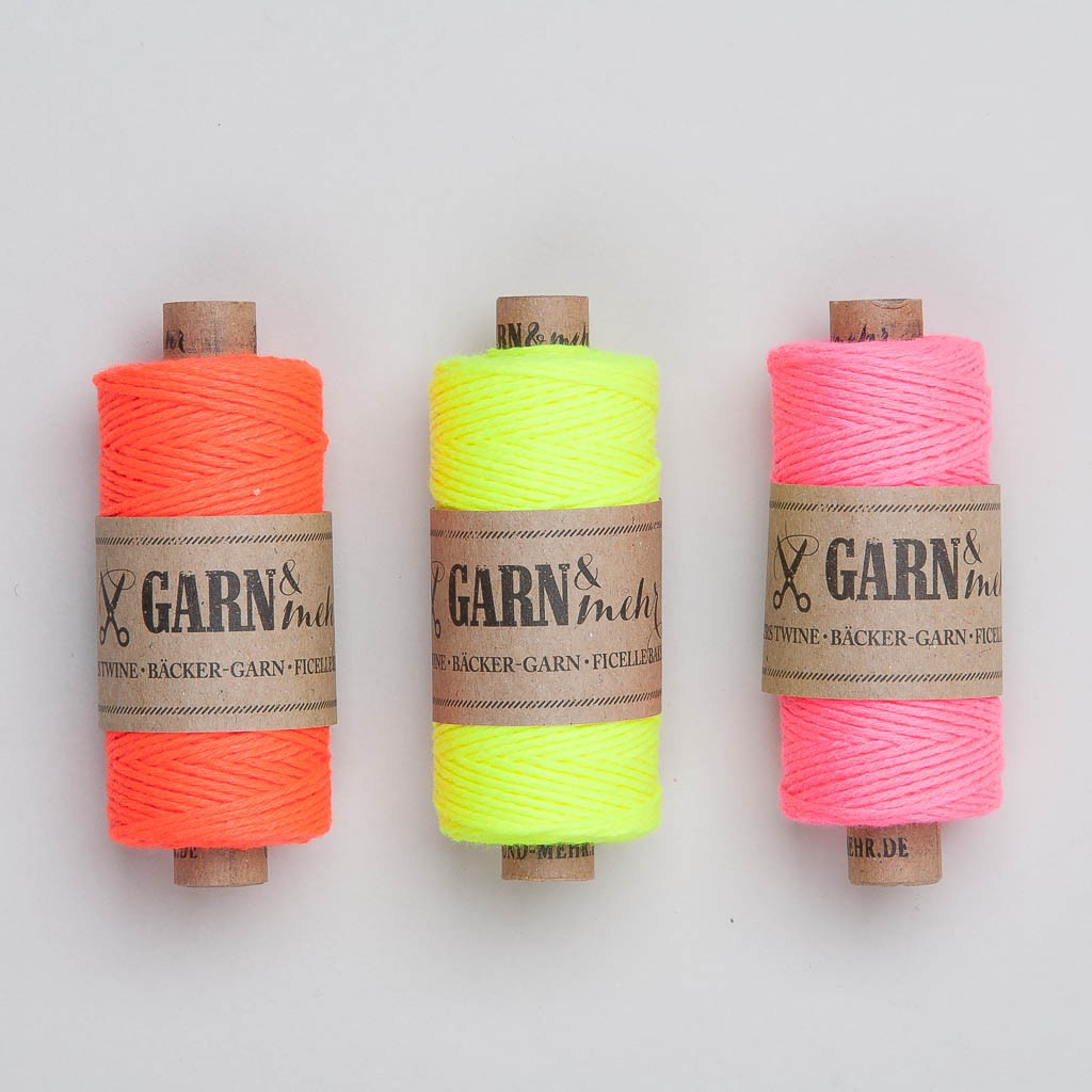 Garn & Mehr Bakers Twine in neonfarben
