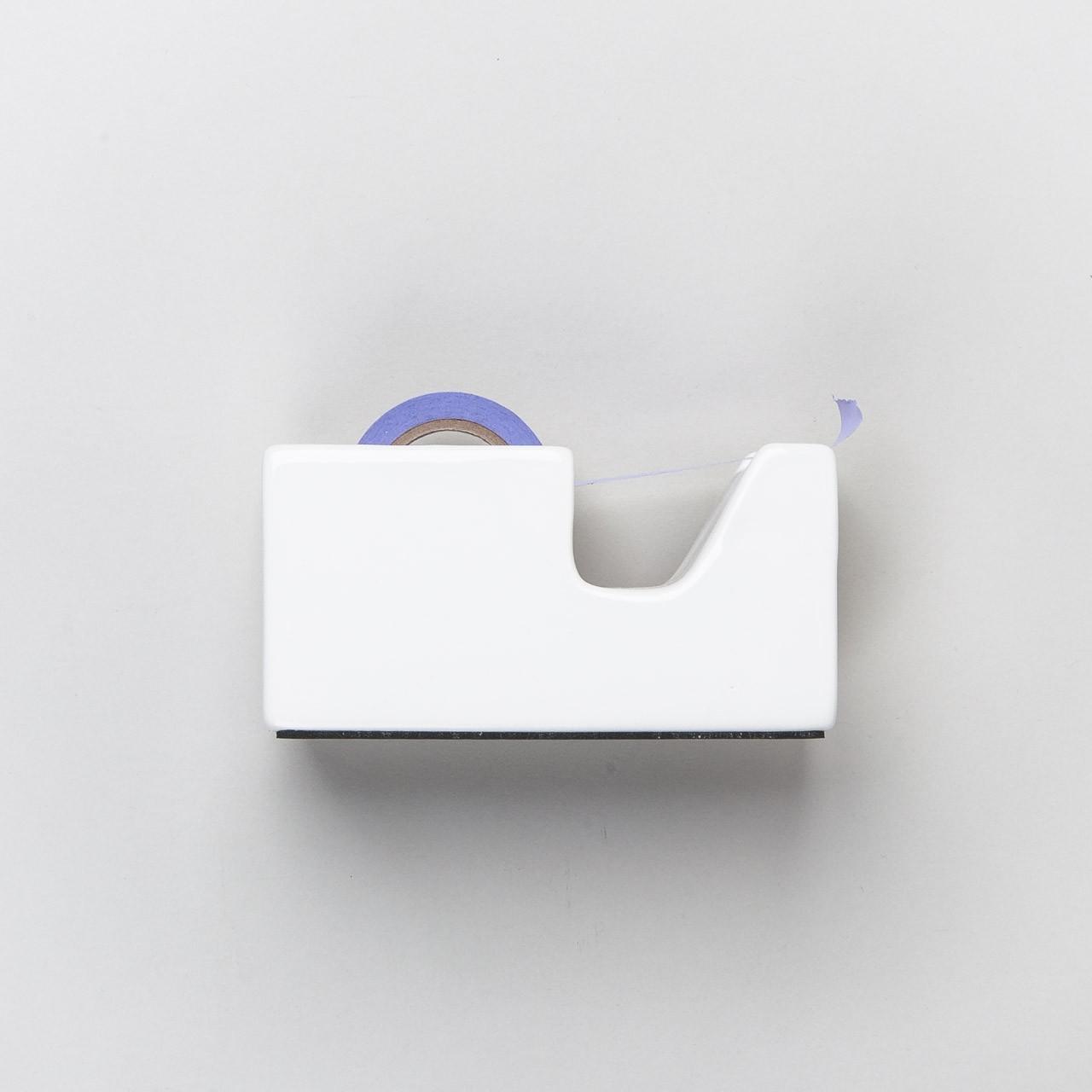 japanischer Tischabroller aus Keramik weiß