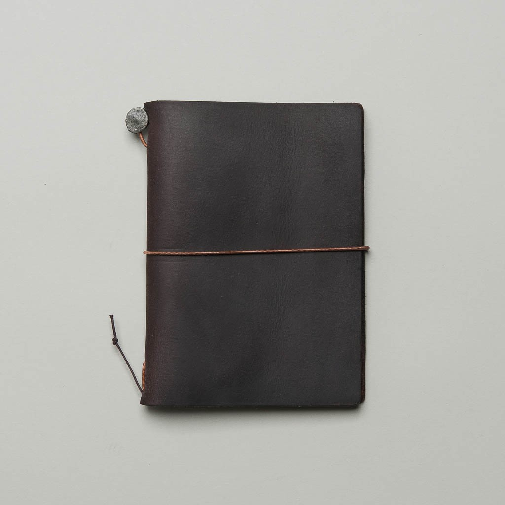Traveller's Notebook aus braunem Leder Passport Size