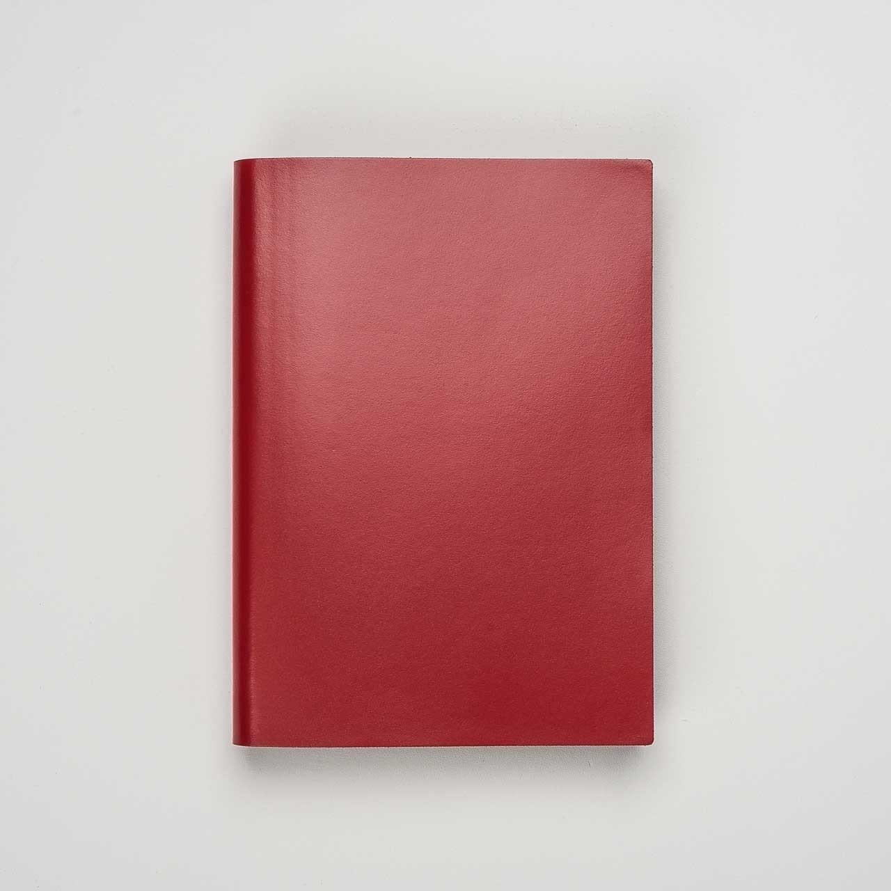 Pinetti Notizbuch Kalbsleder rot
