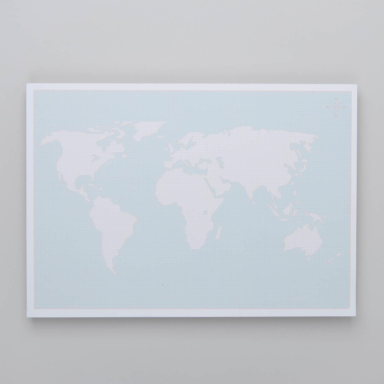 Paperways Deskpad - Weltkarte