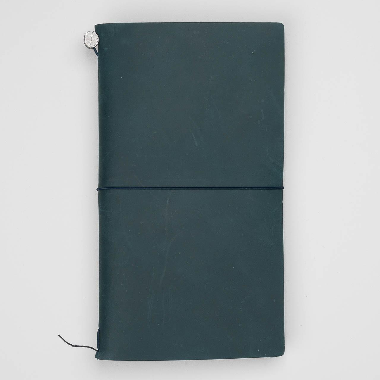 Traveler's Notebook aus Leder blau