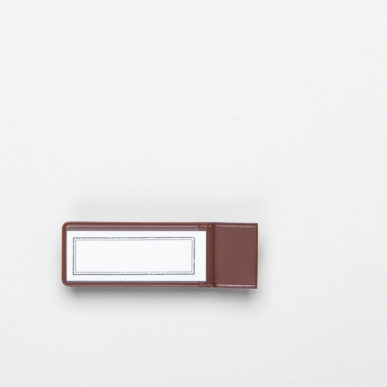 """Traveler's Notebook Etiketten-Stiftschlaufe """"024"""" braun"""